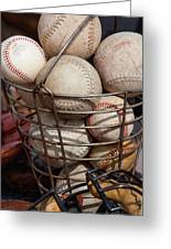 Sports - Baseballs And Softballs Greeting Card by Art Block Collections