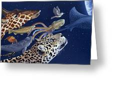Spots Collage Greeting Card by Laura Regan