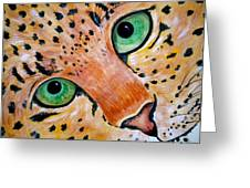 Spotted Greeting Card by Debi Starr