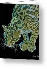 Spotted Predator Greeting Card by Larry Linton