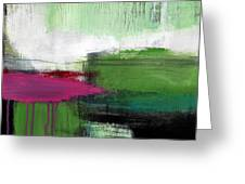 Spring Became Summer- Abstract Painting  Greeting Card by Linda Woods