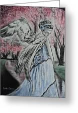 Spring Blossom Angel Greeting Card by Carla Carson