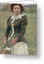 Spring Bouquet Greeting Card by Ilya Efimovich Repin