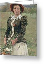 Spring Bouquet Greeting Card by Ilya Efimovich Repin