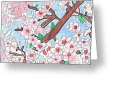 Spring Cherry Blossoms Greeting Card by Raquel