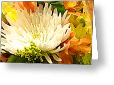 Spring Flower Burst Greeting Card by Amy Vangsgard