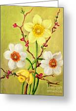 Spring Flowers 2 Greeting Card by Randy Burns