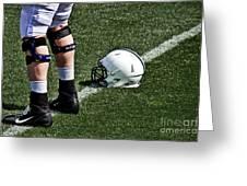 Spring Football Greeting Card by Tom Gari Gallery-Three-Photography