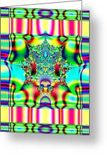 Spring Plaid Fabric Fractal Greeting Card by Rose Santuci-Sofranko