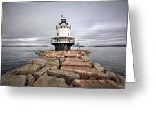 Spring Point Ledge Greeting Card by Eric Gendron