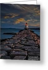 Spring Point Ledge Lighthouse Greeting Card by Susan Candelario
