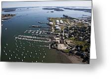 Spring Point, South Portland Greeting Card by Dave Cleaveland
