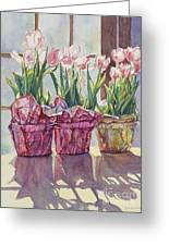 Spring Shadows Greeting Card by Jan Landini