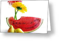 Spring Watermelon Greeting Card by Carlos Caetano