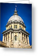 Springfield Illinois State Capitol Dome Greeting Card by Paul Velgos