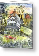 Springtime Down On The Farm Greeting Card by Carol Wisniewski
