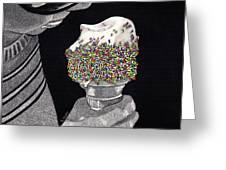 Sprinkles Greeting Card by Barbara Hayden