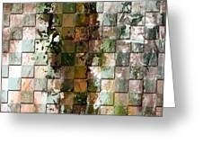 Square mania - Abstract 09 Greeting Card by Emerico Imre Toth