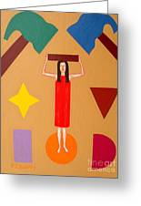 Square Peg Round Hole Greeting Card by Patrick J Murphy
