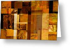 Squares and Rectangles Greeting Card by Ann Powell