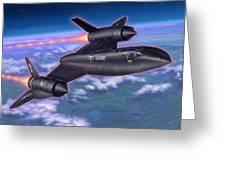Sr-71 Blackbird Greeting Card by Stu Shepherd