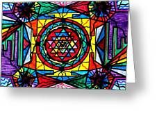 Sri Yantra Greeting Card by Teal Eye  Print Store