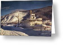 S.s. Keno Sternwheel Paddle Steamer Greeting Card by Priska Wettstein