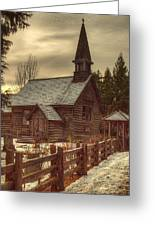 St Anne's Church In Winter Greeting Card by Randy Hall