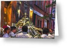 St Anthony's Feast - Boston North End Greeting Card by Joann Vitali