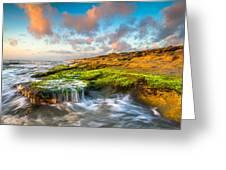 St. Augustine Fl Beach Sunrise - The Coquina Coast Greeting Card by Dave Allen