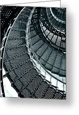 St Augustine Lighthouse Staircase Greeting Card by Christine Till