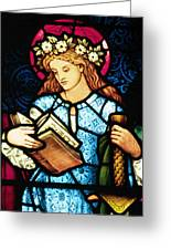 St Catherine Of Alexandria In Stained Glass Greeting Card by Philip Ralley