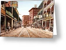 St Charles Street New Orleans 1900 Greeting Card by Unknown
