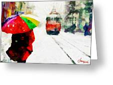 St. Clair Street Tnm Greeting Card by Vincent DiNovici