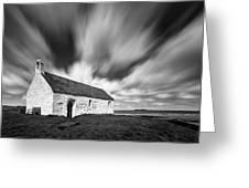 St Cwyfan's Church Greeting Card by Dave Bowman