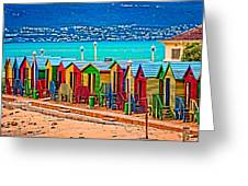 St James Houses With Fishoek Greeting Card by Cliff C Morris Jr