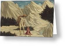 St. John In The Desert Greeting Card by Domenico Veneziano