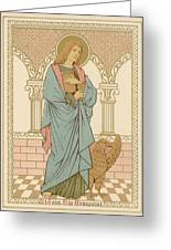 St John The Evangelist Greeting Card by English School