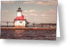 St. Joseph Lighthouse Vintage Picture  Photo Greeting Card by Paul Velgos