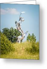 St. Joseph Michigan And You Seas Metal Sculpture Greeting Card by Paul Velgos