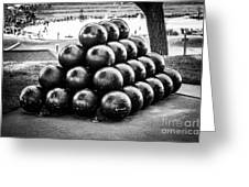 St. Joseph Michigan Cannon Balls Picture Greeting Card by Paul Velgos