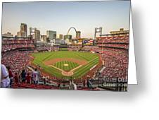 St. Louis Cardinals National Anthem Greeting Card by David Haskett