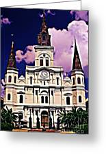 St Louis Cathedral In New Orleans Greeting Card by John Malone
