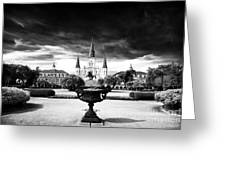 St. Louis Cathedral Greeting Card by John Rizzuto