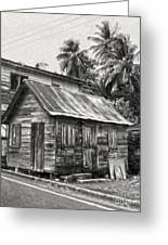 St Lucia - Old Shack Greeting Card by Gregory Dyer