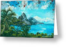 St. Lucia - W. Indies Greeting Card by Elisabeta Hermann