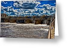 St Lucie Lock And Dam 3 Greeting Card by Dan Dennison
