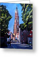 St Martin Old Town Seen From Former Munich Gate Greeting Card by M Bleichner
