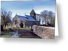 St Marys Church Raskelf Greeting Card by Trevor Kersley