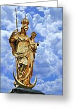 St Mary's Column Marienplatz Munich Greeting Card by Christine Till